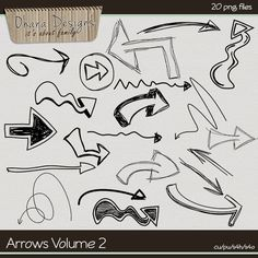 Arrows Doodles Volume 2 by Ohana Designs cudigitals.com, cu, commercial, scrap, scrapbook, digital, graphics,#digitalscrapbooking #photoshop, #digiscrap