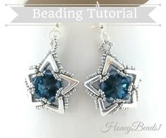 AVA Maria Star earrings #beading #pattern #honeybeads1 #AVA #beads