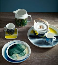 Buy Marimekko Weather Diary Platter, from our Serving Plates & Bowls range at John Lewis & Partners. Free Delivery on orders over Modern Dinnerware, Dinnerware Sets, Buffet, Kitchenware, Tableware, China Art, Swedish Design, Ceramic Design, Stoneware