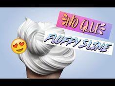 NO GLUE FLUFFY SLIME RECIPIE! - YouTube