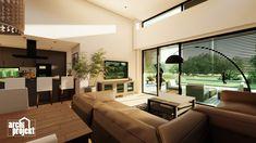 Projekt moderného 4-izbového rodinného domu s názvom Bravo. Súčasťou domu je komfortná obývacia izba spojená s kuchyňou , spálňa, dve detské izby, samostatné WC, kúpeľňa, sklad potravín, šatník, hospodárska miestnosť a letná terasa. Zaujimavosťou domu je zvýšená svetlá výška obývacieho priestoru, ktorá zabezpečuje optimálne presvetlenie dennej časti domu. Conference Room, Table, Furniture, Home Decor, Decoration Home, Room Decor, Tables, Home Furnishings, Home Interior Design