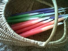 Candles to add colour