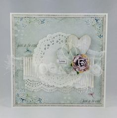 Cam-Cams scrappehjørne Shabby Chic Cards, Cute Cards, Card Making, Valentines, Scrapbook, Frame, Flowers, Card Ideas, Handmade