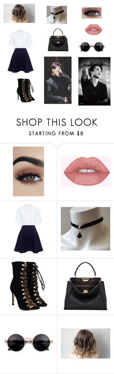 """""""Night out with Jimin"""" by ineedsomesugaformytae ❤ liked on Polyvore featuring Paul & Joe Sister and Fendi"""