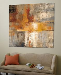 Silver and Amber Crop Loft Art by Silvia Vassileva at Art.com #abstractart