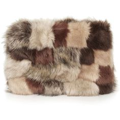 TOPSHOP Patchwork Fur Clutch ($68) ❤ liked on Polyvore featuring bags, handbags, clutches, brown, brown purse, patchwork handbags, patchwork purse, fur purse and topshop handbags