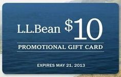 L.L.Bean: Free $10 Gift Card with Purchase of $50 or More