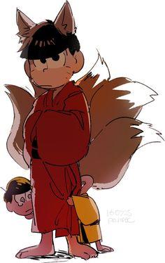 Osomatsu-san Osomatsu & Jyushimatsu #Anime「♡」Youkai Ver