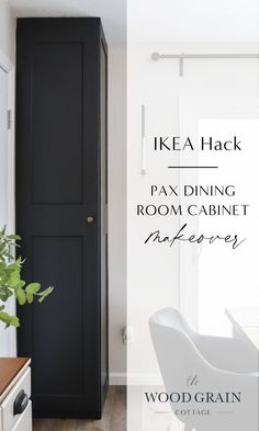 If you're looking for an easy DIY project to completely transform your dining room, this IKEA PAX dining room cabinet makeover is the perfect way to add character to IKEA cabinets while staying on budget. #ikeahack #ikeahacks #diningroom #diy #cabinetmakeover