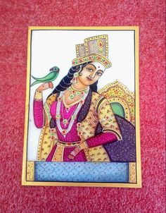 Awesome Art of Marble Painting @ Range of Rs 1,299/- only Online shop here  http://www.artncraftemporio.com/hand-crafted-decors/paintings.html  Embossed Marble Tile with hand painted & beautifully carved Figure Art embellished with Meenakari and Kundan work. A perfect gift for any occasion. These marvelous handcrafted artifacts from Rajasthan carved out from the best marble of India.