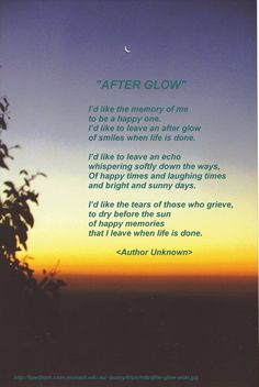 """""""Afterglow"""" Author; Helen Lowrie Marshall"""