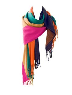 New Style Color Patchwork Warm Scarves For Women