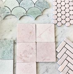 Our exclusive Tumbled and Honed Pink and Ming Green Marble range has grown with the introduction of these beautiful 100 x 100 babies. Thanks for selecting our tiles for your project in store yesterday.