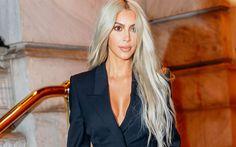 Lataa kuva Kim Kardashian, kaunis nainen, Hollywood, kauneus, blondi, amerikkalainen näyttelijä