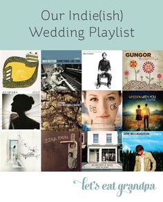 Looking for great indie music for your wedding that's not depressing? Look no further!