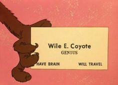 Looney Tunes :) = this is the BEST business card EVER....I think I should have it...!!!