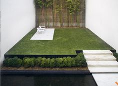 Concrete and grass sound at odds, but integrate so well together.  The duality of the two.    www.simple-truth.com    ScottFrances_landscaping1