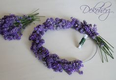 Ghirlanda di lavanda - tutorial  Maybe for the bridesmaids'? Lavender flower crowns