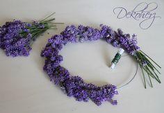 Ghirlanda di lavanda - tutorial  Maybe for the bridesmaids'? Lavender flower crowns
