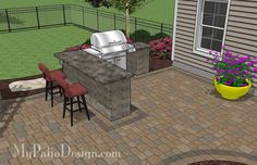 If you like winding curves, our Large Paver Patio Design with Pergola and Grill Station + Bar will help you turn your backyard into a perfect, enjoyable escape. Curved Pergola, Pergola Patio, Pergola Plans, Backyard Patio, Pergola Ideas, Pavers Ideas, Pergola Kits, Patio Ideas, Patio Plans