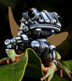 Robotic Morph Photo Design Trick