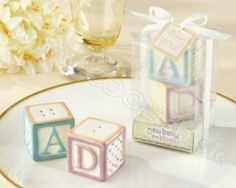 New Baby on the Block Baby Blocks Salt and Pepper Shakers Salt & Pepper Shaker] : Wholesale Wedding Supplies, Discount Wedding Favors, Party Favors, and Bulk Event Supplies Cheap Baby Shower Favors, Cheap Party Favors, Baby Shower Gifts, Baby Gifts, Baby Favors, The Block, Wedding Favours Wording, Baby Blocks, Birthday Favors