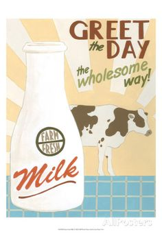 Farm-Fresh Milk Poster von Erica J. Vess - AllPosters.at