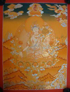 White Tara Thangka #tibetan #thangka