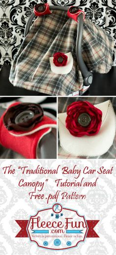 You can make a baby car seat cover with this easy FREE pattern and tutorial.