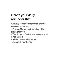 Daily reminder for Muslims