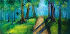"""ARTFINDER: The Road Not Taken by Drew Noel Marin - The poem """"The Road Not Taken"""" by Robert Frost inspired me to paint and name this particular piece after it! If you have not read it I encourage you to do so,..."""
