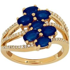 Lord & Taylor Sapphire, Diamond & 14K Gold Ring ($960) ❤ liked on Polyvore featuring jewelry, rings, yellow gold, diamond fine jewelry, 14k yellow gold ring, gold sapphire ring, druzy ring and 14k gold jewelry