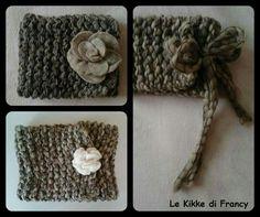 Scaldacollo in lana con chiusura spilla a fiore o fiocco 🌼