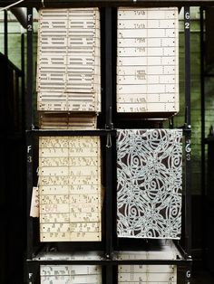 Punched cards. Gainsborough Silk Mill, Suffolk. House & Garden Magazine, photo Andrew Montgomery