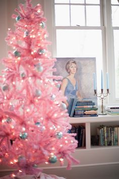 How to Decorate with Collections at Christmas - The Decorologist | vintage pink inspiration