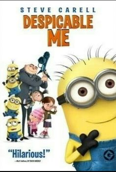 Despicable Me (Voices by Steve Carell, Russell Brand, Jason Segel, Julie Andrews) I love the minions! Good Movies To Watch, Two Movies, Family Movies, Funny Movies, Great Movies, Disney Movies, Awesome Movies, Movies For Kids, Pixar Movies