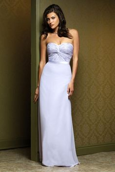 light purple bridesmaid dresses, love the color and dress