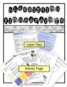 FLASH FREEBIE Science Activity - Fingerprint Classification Lesson Plan and Worksheet Packet from The Resourceful Teacher on TeachersNotebook.com -  (6 pages)  - Use this lesson plan and worksheet to teach and/or review the different types of fingerprints. Document includes lesson plan and 4 pages of worksheets.