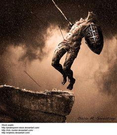 The last warrior by Óscar Gorostiaga, via Fantasy Warrior, Fantasy Art, The Last Warrior, Once Were Warriors, Writing Photos, Fight For Freedom, Photoshop Cs5, Medieval Fantasy, Heavy Metal