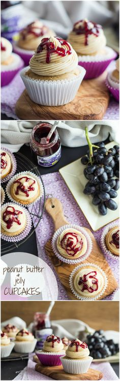 Peanut Butter and Jelly Cupcakes | Baking a Moment