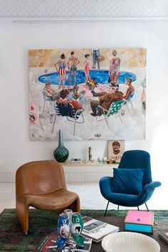New Pop Art Painting Ideas Dean Ogorman 29 Ideas Interior Inspiration, Room Inspiration, Daily Inspiration, Décor Boho, Interior Decorating, Interior Design, Design Blog, Home And Deco, My New Room