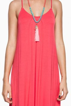 Great Lengths Maxi Dress in Coral