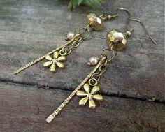 "havranka / earrings ""Gold Flower"""
