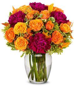 Orange Purple Blooms at From You Flowers 800 Flowers, Flowers For You, Fall Flowers, Send Flowers, Fresh Flowers, Purple Flower Arrangements, Christmas Flower Arrangements, Fall Arrangements, Christmas Plants