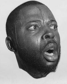 Ilustración: Retratos hiperrealistas de Arinze Stanley, hechos con grafito y carbón vegetal
