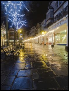 The Pantiles, Royal Tunbridge Wells, Kent, UK Tunbridge Wells, Forest Road, Beautiful Streets, Sales Image, Places Of Interest, Night Photography, City Lights, Prints For Sale, Places To Go