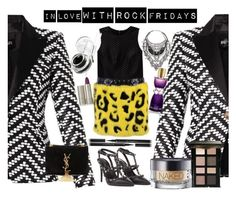 #10 in love with rock fridays by tzortziadel on Polyvore featuring polyvore, moda, style, Theory, Balmain, Versace, Valentino, Yves Saint Laurent, Shlimp and Ulrich, Bobbi Brown Cosmetics, Urban Decay, Elizabeth Arden, Ilia and Givenchy