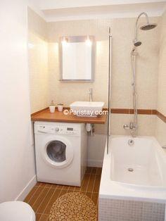 Vuoi ricavare una lavanderia in casa? Ti racconto come organizzare la tua lavanderia (anche in pochi mq! Tiny Bathrooms, Tiny House Bathroom, Bathroom Design Small, Laundry In Bathroom, Bathroom Interior Design, Bathroom Sets, Modern Bathroom, Bad Inspiration, Bathroom Inspiration