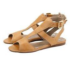 Novak Camel Italian sandals