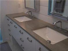Concrete Bathroom Countertops   Google Search